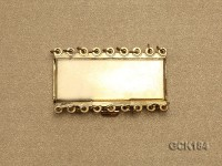 55*32mm Rectangular Golden Gilded Clasp
