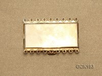 46*31mm Rectangular Golden Gilded Clasp