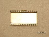 45*28mm Rectangular Golden Gilded Clasp