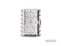 36*27mm Rectangular White Gilded Clasp