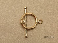 15*26mm Golden Gilded Toggle Clasp