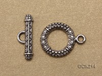 17*22mm Silver-like Gilded Toggle Clasp