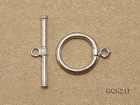 15*25mm Silver-plated Toggle Clasp