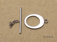 15*20mm White Gold-plated Toggle Clasp