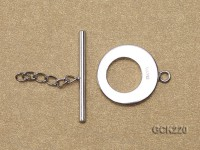 15*24mm White Gold-plated Toggle Clasp