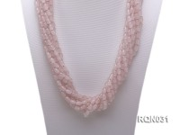 10-strand 6x9mm Oval Rose Quartz Necklace