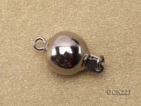12mm White Gold-plated Ball Clasp