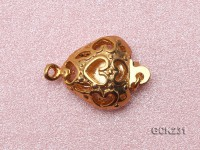 6.5*12mm Heart-shaped Golden Gold-plated Clasp