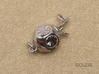 8mm White Gold-plated Clasp