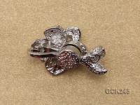 17*26mm Flower-shaped Gilded Magnetic Clasp