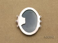 35x40mm Three-Row Sterling Silver Agate Clasp