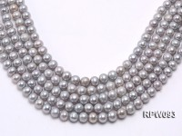 Wholesale  10-11mm Argent Round Freshwater Pearl String
