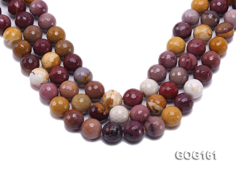 Wholesale 14mm Colorful Round Faceted Gemstone String