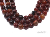 wholesale 20mm round faceted Multicolor Agate Loose String