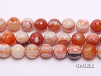 wholesale 20mm round faceted Pinkish Agate Loose Strings
