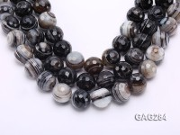 wholesale 20mm round Black & White Agate Strings