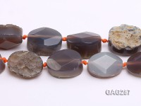 wholesale 14*30*22mm natural oval Agate Pieces Strings