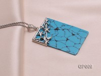 34x52mm Blue Turquoise pendant