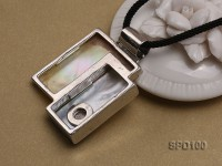 39x44mm Irregular Shell Pendant