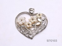 48mm Heart-shaped White Shell Pendant