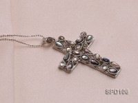 30x44mm Cross-shaped Shell Pendant
