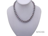 10mm Light Grey Round Freshwater Pearl Necklace