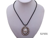 45x50mm mabe pearl pendant circled by freshwater pearl