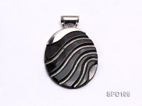 37x46mm White Oval Shell Pendant