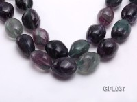 Wholesale 24*32mm Colorful Irregular Fluorite String