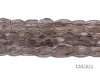 Wholesale 14x15mm Irregular Faceted Smoky Quartz Pieces String