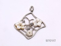 53x58mm Flower-shaped White Shell Pendant