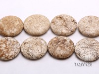 Wholesale 50mm Round White Turquoise Pieces String