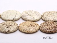 Wholesale 40x60mm Oval White Turquoise Beads String