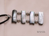 11x34mm Shell Pendant with Freshwater Pearls