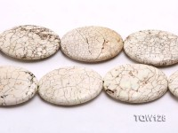 Wholesale 50x70mm Oval White Turquoise Beads String