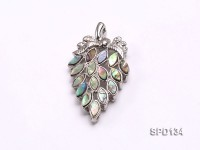 32x36mm Grape-shaped Abalone Shell Pendant