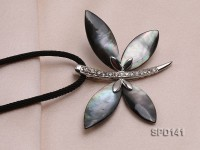 47x62mm Butterfly-shaped Black Shell Pendant