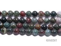wholesale 14mm round Moss Agate Strings