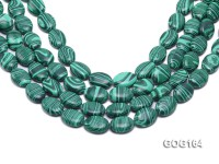 Wholesale 13x18mm Oval Imitation Malachite String