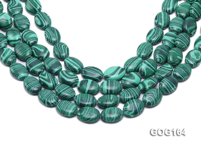 Wholesale 13x18mm Oval Imitation Malachite String