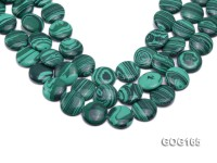 Wholesale 20mm Disc-shaped Imitation Malachite String