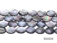 Wholesale 15x20mm Black Faceted Seashell String