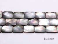 Wholesale 17x25mm Black Rectangular Seashell String