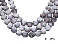 Wholesale 18mm Black Faceted Seashell String