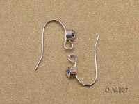 Silver-Plated Earring Hooks Inlaid with Zirconia