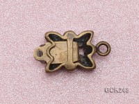 11*9mm Butterfly-shaped Copper Clasp Inlaid with Shiny Zircon
