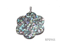 Flower-shaped Abalone Shell Pendant with Argent Gilded Connector