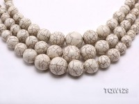 Wholesale 8-23mm Round White Turquoise Beads String