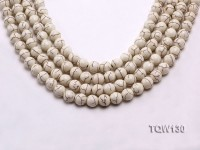 Wholesale 10mm Round White Turquoise Beads String