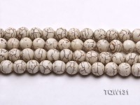 Wholesale 12mm Round White Turquoise Beads String